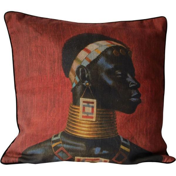 Tretchikoff - Kissenbezug Leinen Ndebele Woman