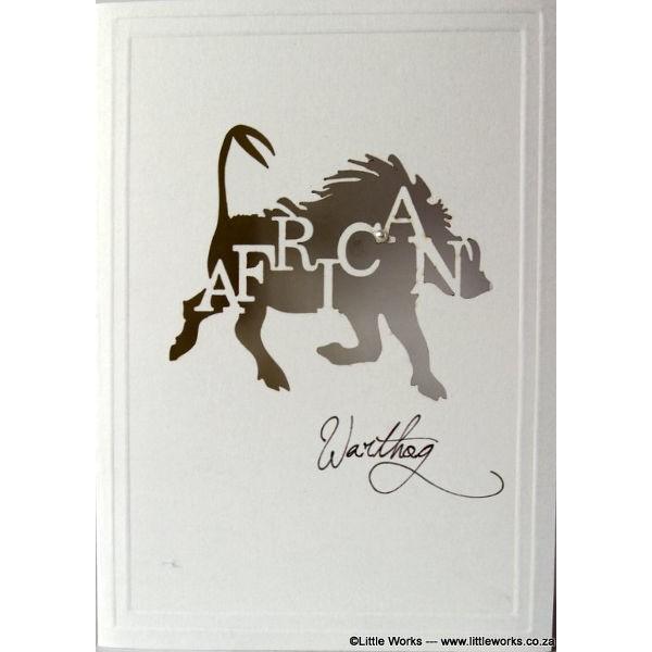 """Grußkarte """"Africa Warthog"""" - Munken"""