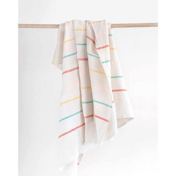 large country towel with stripes throughout - CANDY