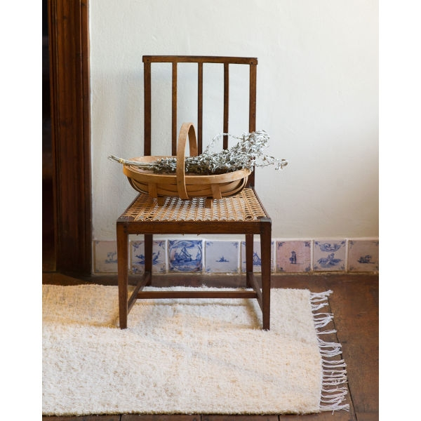 medium thick weave rug - NATURAL